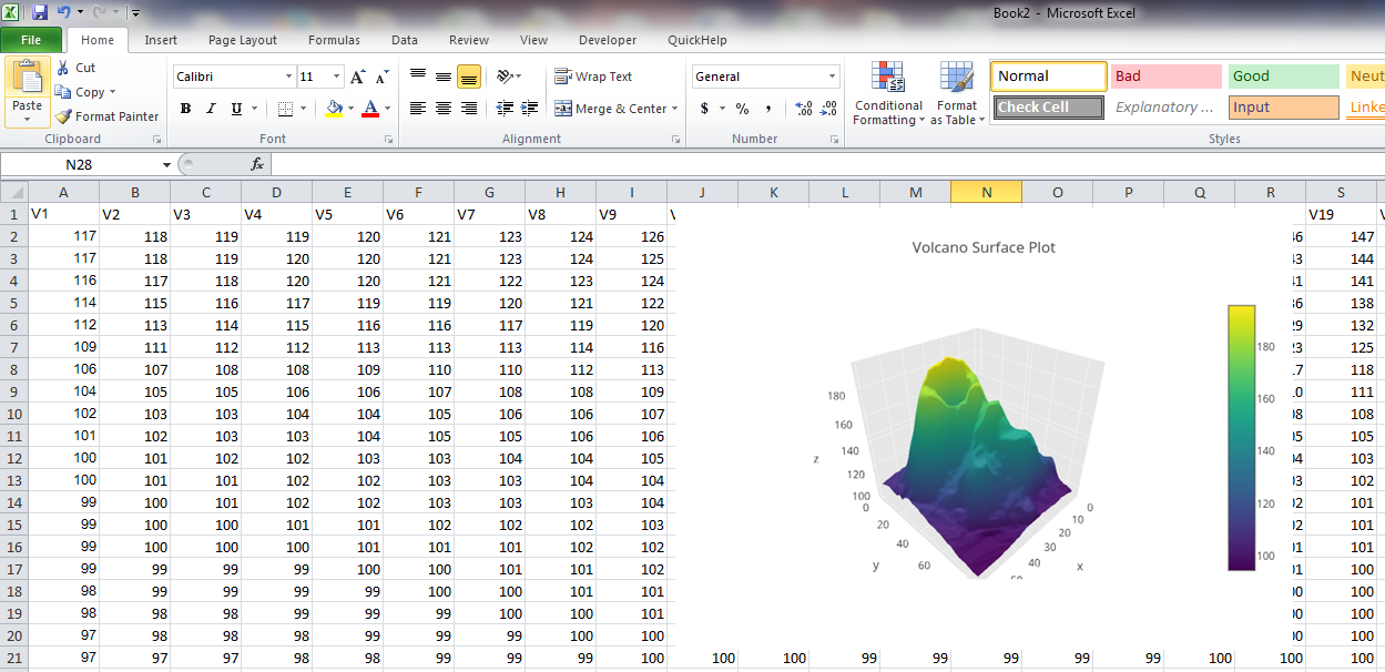 Make a 3D Surface Plot Online with Plotly and Excel