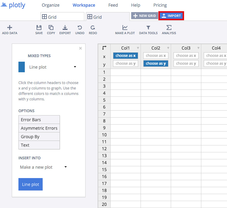 make a dot plot online with chart studio and excel