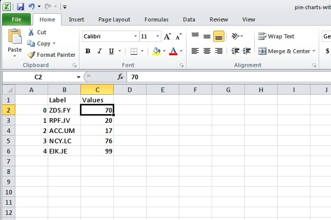 Excel view