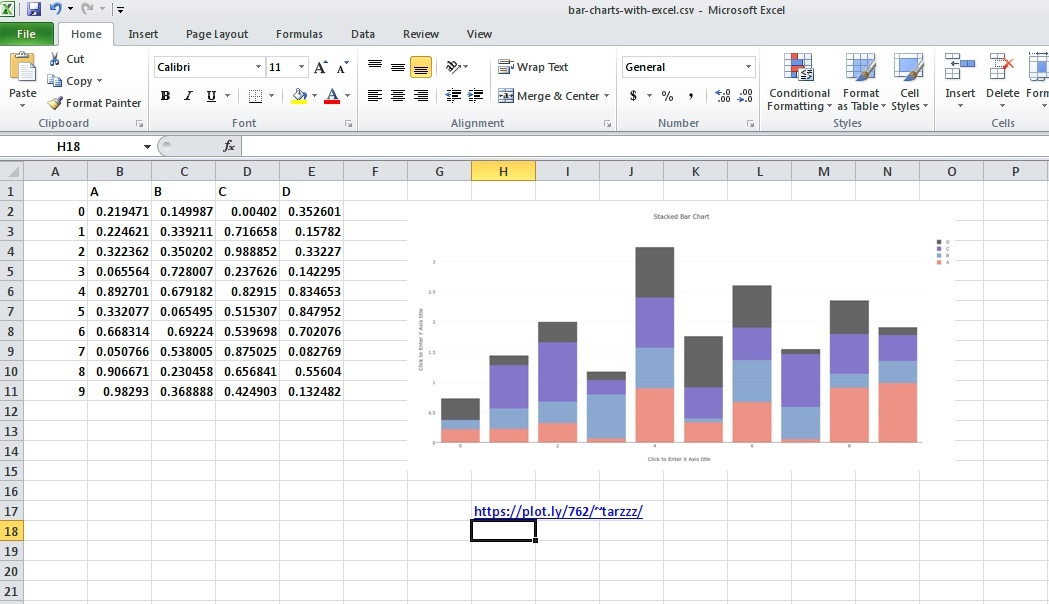Make A Stacked Bar Chart Online With Chart Studio And Excel